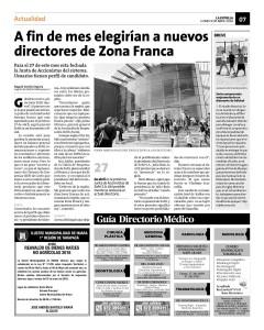 Noticia 09.04.18 A fin de mes eligirán nuevos directores de ZFranca